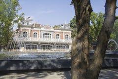 Stadssikt fanfan tulpanspringbrunnen Royaltyfri Foto