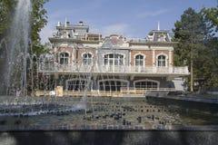 Stadssikt fanfan tulpanspringbrunnen Arkivfoto