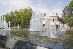 Stadssikt fanfan tulpanspringbrunnen Royaltyfri Fotografi