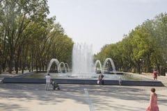 Stadssikt fanfan tulpanspringbrunnen Arkivbilder