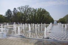 Stadssikt fanfan tulpanspringbrunnen Royaltyfri Bild