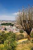 Stadssikt från Cholula, Mexico Arkivfoto