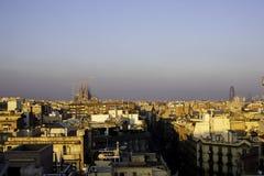 Stadssikt i Barcelona, Spanien Arkivbild
