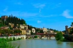 Stadssikt i Verona Royaltyfri Fotografi