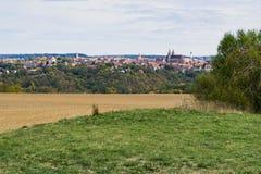 Stadssikt på Rothenburg obder Tauber, Tyskland royaltyfri foto