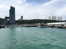Stadssikt Pattaya Arkivfoto