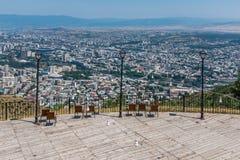 Stadssikt Tbilisi Georgia Europe Arkivbild