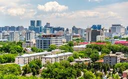 Stadssikten av Peking från Jingshan parkerar Arkivbilder