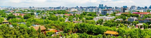Stadssikten av Peking från Jingshan parkerar Fotografering för Bildbyråer