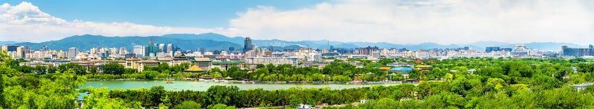 Stadssikten av Peking från Jingshan parkerar Royaltyfri Foto