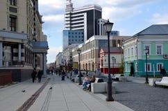 Stadssikter av Kazan Arkivbild