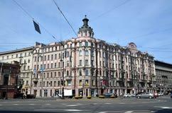 Stadssikter av St Petersburg royaltyfri fotografi
