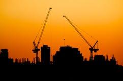 stadssilhouette Fotografering för Bildbyråer