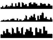 Stadssilhouetten Stock Afbeeldingen
