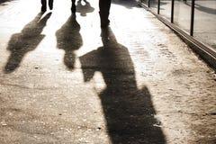 Stadsskuggor fotografering för bildbyråer