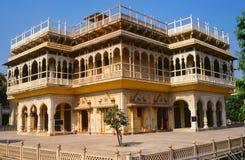 Stadsslott i Jaipur, Rajasthan, Indien Arkivbilder
