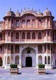 Stadsslott Jaipur Indien arkivfoton