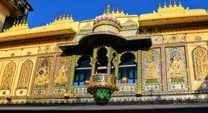 Stadsslottudaipur rajasthan Indien royaltyfri fotografi