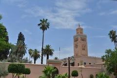 Stadsslottväggar av Marrakesh-Marocko Fotografering för Bildbyråer