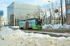 Stadsspårvagn, Hakodate Hokkaido Japan Fotografering för Bildbyråer