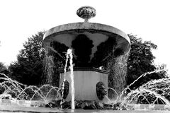 Stadsspringbrunn Cherepovets Ryssland royaltyfria foton