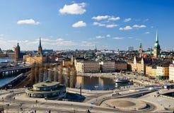 stadsstockholm sikt Royaltyfri Bild