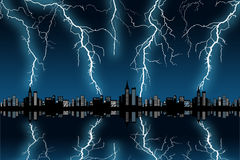 Stadsstorm Royaltyfri Bild