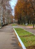 Stadsstraat in de de herfstdag stock foto's