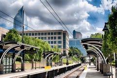 Stadsstraten van Charlotte Noord-Carolina Stock Afbeelding