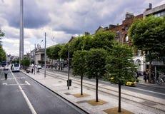 Stadsstraten van Dublin, Ierland royalty-vrije stock afbeelding