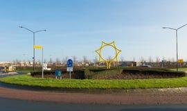 stadssunen tones varm yellow Royaltyfria Bilder