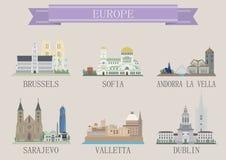 Stadssymbol. Europa Royaltyfria Bilder