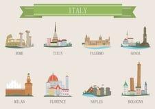 Stadssymbol. Italien stock illustrationer