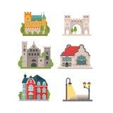 Stadssymbolsuppsättning Fotografering för Bildbyråer