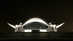 stadstjecken tänder den nattprague republiken arkivfoto