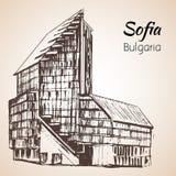 Stadstoren, de stadspanorama van Sofia, Bulgarije schets Royalty-vrije Stock Afbeeldingen