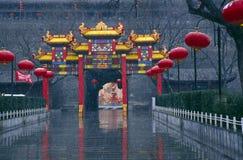 stadstoriivägg xi xian royaltyfri foto