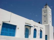 Stadstorn i Sidi Bou Said, Tunisien Fotografering för Bildbyråer