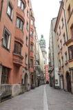 Stadstorn Innsbruck arkivbilder