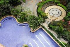 stadsträdgård royaltyfri fotografi