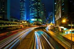 Stadstrafik Hong Kong arkivbilder