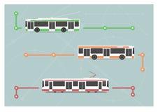 Stadstransportuppsättning Arkivbild