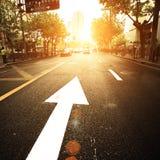 stadsväg Royaltyfri Fotografi