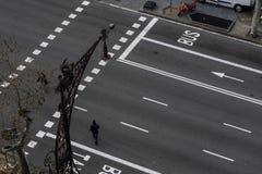 Stadsväg i Barcelona, Spanien Arkivbilder