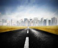 stadsväg till Fotografering för Bildbyråer