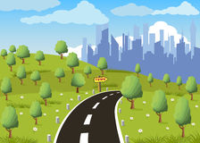 stadsväg till Arkivbild