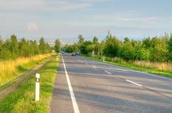 stadsväg till vektorn Royaltyfri Fotografi
