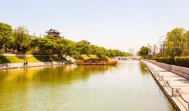 stadsvägg i Xian Arkivbild