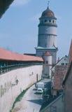 Stadsvägg Nördlingen Royaltyfri Bild