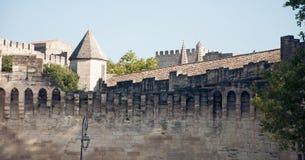 Stadsväggar av Avignon, Frankrike Arkivbilder